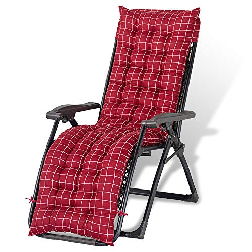Solstol vilstol kuddar mjuk bomull soffa utomhus hög rygg stol sittdyna bekväm kudde ryggstöd halkskydd skrubben är tvättbar, lätt att ta hand om, mjukare och bekvämare. (rödrutig)