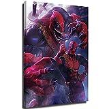 YHML Superhero Venom Deadpool Pintura al óleo 3D abstracta 3D pintura al óleo sobre lienzo, impresión abstracta arte de pared adecuado para decoración del hogar 24 x 36 pulgadas