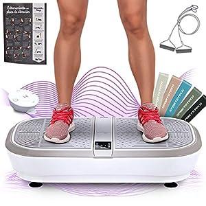 ✅ 𝗔𝗗𝗘𝗟𝗚𝗔𝗭𝗔 𝗙𝗔́𝗖𝗜𝗟𝗠𝗘𝗡𝗧𝗘 - Plataforma vibratoria profesional que te ayudará quemar la grasa y tonificar tus músculos de manera efectiva, 2 motores de gran potencia y 120 niveles de intensidad ✅ 𝗔𝗟𝗧𝗔𝗩𝗢𝗖𝗘𝗦 𝗕𝗟𝗨𝗘𝗧𝗢𝗢𝗧𝗛 𝗜𝗡𝗧𝗘𝗚𝗥𝗔𝗗𝗢𝗦 - Transmisión inalámbrica d...