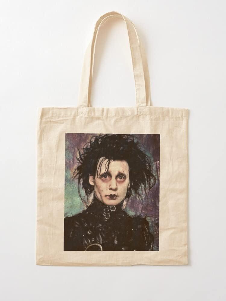 Générique Gothic Edward Cult Fantasy Tim Movie Film Burton Scissorhands Horror | Bolsas de lona con asas de algodón duradero