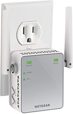 NETGEAR Wi-Fi Range Extender EX2700 - Coverage up to 600 sq.ft. and 10 devices with N300 Wireless Signal Booster & Repeater (up to 300Mbps speed), and Compact Wall Plug Design