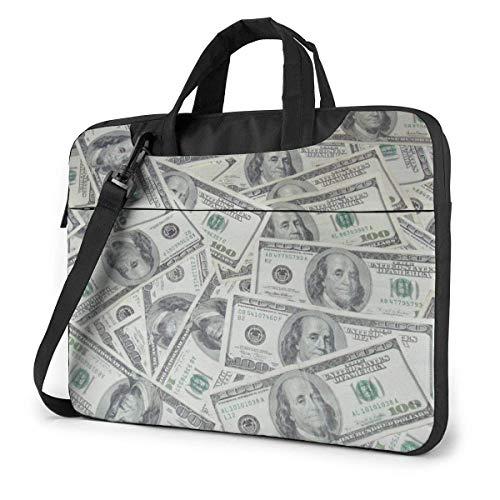 XCNGG Stoßfeste Laptoptasche USA Dollors Schulter Umhängetasche Schlanke Aktentasche für Männer Frauen Tablet Tragetasche für Geschäftsreisen Büro 13 14 15,6 Zoll