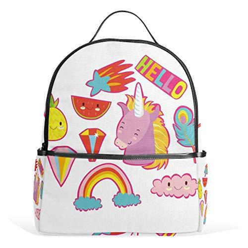 FANTAZIO Mochila para viaje Hello Unicorn Daypack