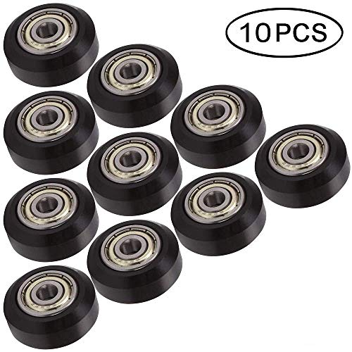3Dman POM Big Plastic Pulley Synchronous Wheel with Bearing Idler Pulley Gear Perlin Wheel for 3D Printers -10pcs