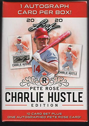 Pete Rose 2020 Leaf Charlie Hustle Edition Factory Sealed Boxed 10 Card Set Plus One AUTOGRAPHED Card