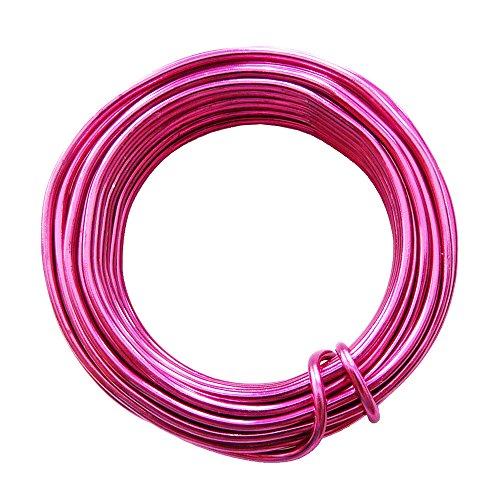 trendmarkt24 Aluminiumdraht pink Ø 2mm - 1 Rolle 5m Alu-Draht eloxierte Farbe Floristikdraht Schmuckdraht Dekodraht Basteldraht Aludrähte Schmückdrähte 28734-A