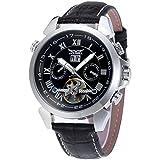 Forsining JAG057M3S3 - Reloj de pulsera para hombre, automático, con calendario, correa clásica