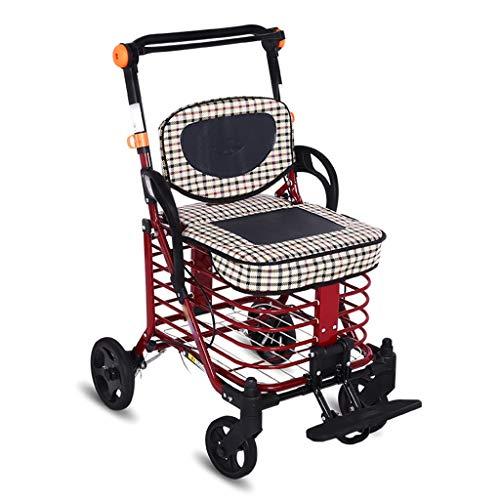 ShenZuYangShop kundvagn kolstål justerbar gammal man som köper grönsaker med hjul säte kundvagn hopfällbar bärbar vagn vagn vagn vagn