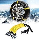Cadena de Neumáticos Antideslizante, 10 Piezas Universal Anti Cadenas de Nieve Antideslizante y Regulable para Coche, Ancho con 185 mm - 225 mm