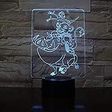 The King Simba Decor Lámpara de mesa 3D Warthog Pumbaa Navidad Niños GiftCool Night Light Lámpara de mesa Usb