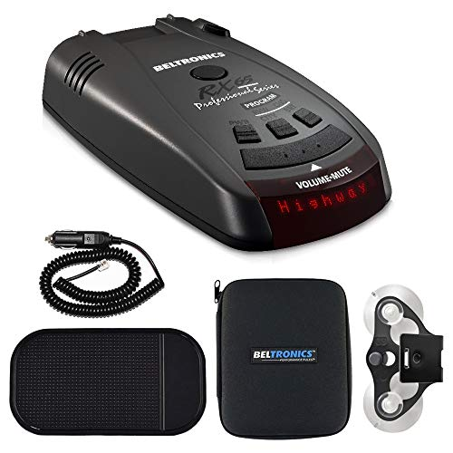 Great Features Of Beltronics RX65 Red Professional Series Radar/Laser Detector with Car Mat Bundle