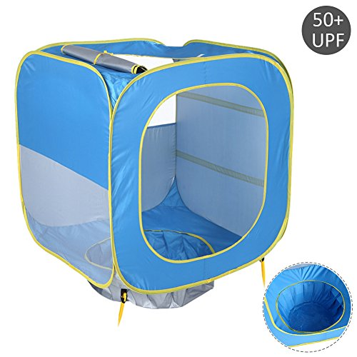 Per Baby Anti-UV Pop-Up Beach Tent With Pool Design Cube Shape Outdoors UPF 50+ Sun Protection Shelter Shade Foldable Play Tent For Beach