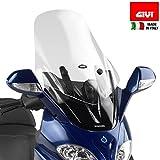 Givi D229ST - Parabrisas transparente con spoiler para Piaggio X9 Evo 125, 200, 250 y 500 (+16 cm)