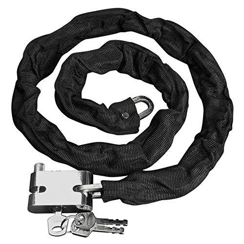JJOnlineStore - color negro y alta resistencia 90 cm de la motocicleta soporte de manillar de moto diseño de paisaje de montaña de bloqueo de seguro de aire para bicicleta de soporte de manillar de bicicleta de la cadena de candado de seguridad con llave fríjol de media