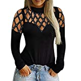 Franterd Hollow Sleeve Shirt, Women Athletic Tank Top Shirts, Casual Blouse