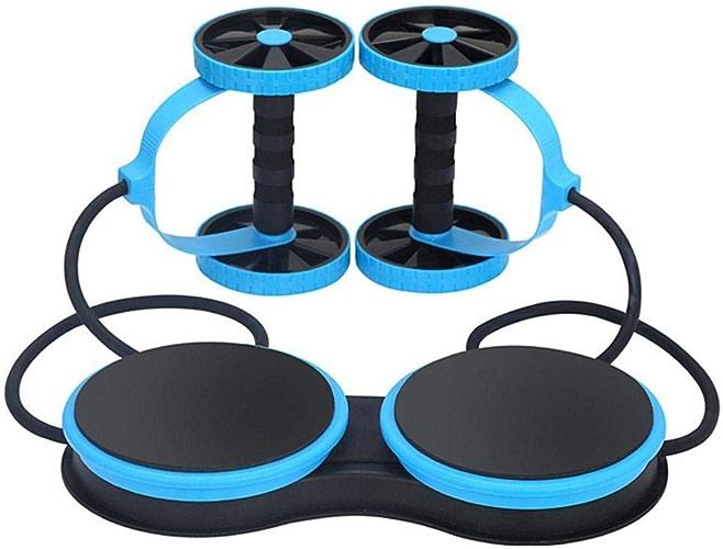 DUANTUIZHU Multifonctionnel Exercice De Musculation à La Maison Double Roue Abdominale Power Wheel AB Roller Gym Roller Trainer