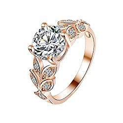 High quality + standard size: The ring is made of crystal and silver-plated. It is made by natural hand, and the whole ring looks bright. Cute ring size Q diameter: 18MM, perimeter: 57MM, suitable for the general population Hand inlay: The gems on th...