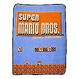 BIOWORLD Nintendo Super Mario Bros Retro Fleece Throw Blanket, 48' x 60'