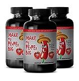 Make My Pepper Bigger Pills - Sex Boost Men - Muscle Growth Supplements - 3 Bottles 180 Capsules