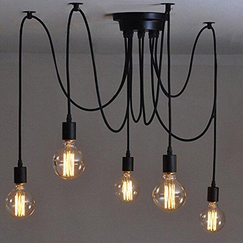 E27 Creative Edison Kronleuchter Antique DIY Kronleuchter 5 Köpfe Lampen Vintage Industrial Deckenleuchte Pendelleuchte Leuchte Hotel Home Lighting Zubehör