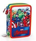 Marvel´S The Avengers Bolsa de Plumas, Plumero 3-fach Lleno Jóvenes Caja de Lápices Bolsa de Primavera Captain America Thor Iron Man El Increíble Hulk