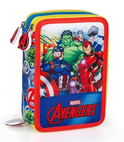 Marvel´s The Avengers Federmappe 3-fach gefüllt Jungen Federmäppchen Federtasche Captain America Thor Iron Man Der unglaubliche Hulk