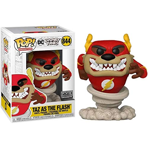 FreeStar Funko Pop Animation : DC Looney Tunes -Taz As The Flash (Exclusive) 3.75inch Vinyl Gift for Heros Anime Fans Multicolur