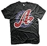 The Avengers Oficialmente Licenciado Varsity 3XL, 4XL, 5XL Hombre Camiseta (Negro), 4X-Large