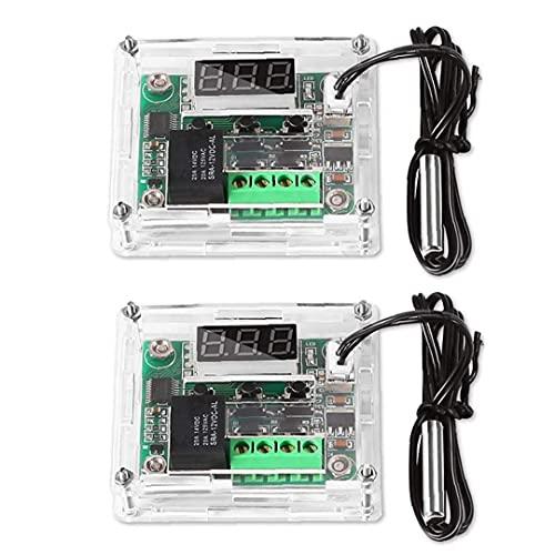Elektronischer Thermostat-Controller XH-W1209 Temperaturregler Wasserdichte digitale Anzeige elektronische Ttthermostat-Schalter DC-12V mit wasserdichter Sensorsonde