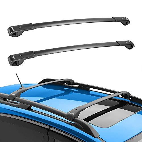 BougeRV Car Roof Rack Cross Bars for 2014-2021 Subaru Forester, Aluminum Cross Bar for Rooftop Cargo Carrier Luggage Kayak Canoe Bike Snowboard