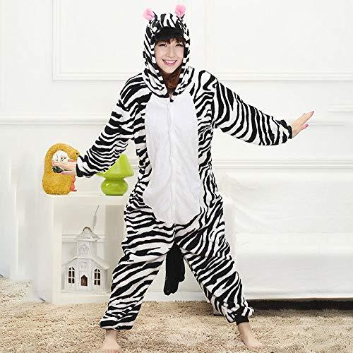 MA Pijama Adulto Jirafa Amarillo Kigurumi Onesies Cosplay Disfraz Anime 3D Monokuma Pijamas Fiesta de Halloween Monos Pijamas Traje-Cebra_Metro