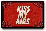 """LHM Kiss My Airs - Felpudo (40 x 60 cm), diseño con texto """"Kiss My Airs"""""""