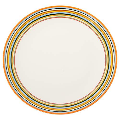 Iittala 1012051 Teller Flach Origo 26 cm Orange, Porzellan