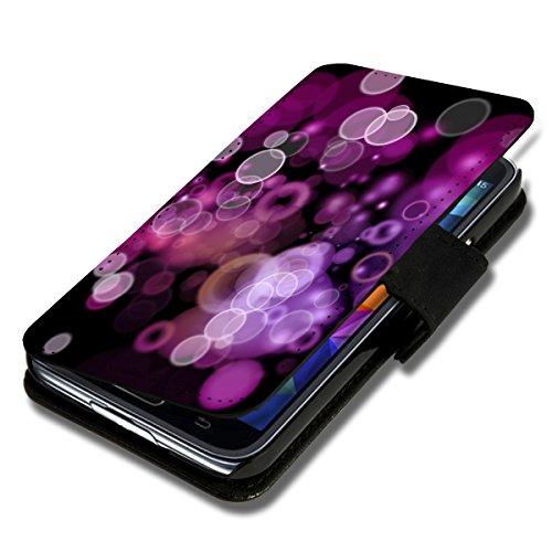 wicostar Book Style Flip Handy Tasche Hülle Schutz Hülle Schale Motiv Etui für Wiko Rainbow Up - Flip A52 Design1