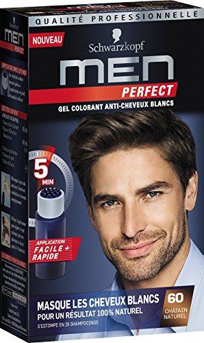 Schwarzkopf - Men Perfect - Gel Colorant Anti-Cheveux Blancs - Châtain Naturel 60