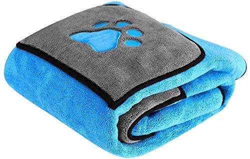 ZXL Absorbens Hond Bad Handdoeken Snel Droog Zachte Handdoek Microvezel Huisdier Zorg Met Poot Print Voor Honden Katten