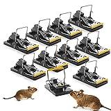 Ulikey 10 Pcs Trampas para Ratones, Reutilizable Trampa Ratones, Trampa de Ratón Trampa Profesional para Ratas, Alta sensibilidad Respuesta Rápida Seguro Efectivo (10 PCS Ratonera)