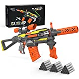 XTOYZ Motorized Blaster Toy Gun, Electric Automatic Shooting Toys with 30 Darts Compatible for Nerf Guns Bullet, 7 Modes Burst Toy Guns for Boys, Multi-Player Game for 6+Age Kids