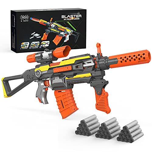 XTOYZ Electric Automatic Shooting Toy Gun for Nerf Guns Darts, Motorized Blaster Shooting Game Toy with 30 Foam Darts, 7...