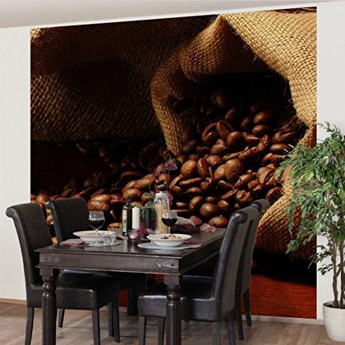 Apalis Vliestapete Küchentapete Dulcet Coffee Fototapete Quadrat   Vlies Tapete Wandtapete Wandbild Foto 3D Fototapete für Schlafzimmer Wohnzimmer Küche   Größe: 192x192 cm, braun, 97605