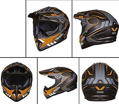 WRDH Motorradhelm,Motocross Motorrad-Integralhelm Erwachsene Helm Rollerhelm Endurohelm Crosshelm Bike Helmet Antifogging Mit Doppelvisieren Für Männer Frauen Universal