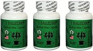 3 Bottles of 3 Ballerina Herbal Slim Capsule (30 Capsules)