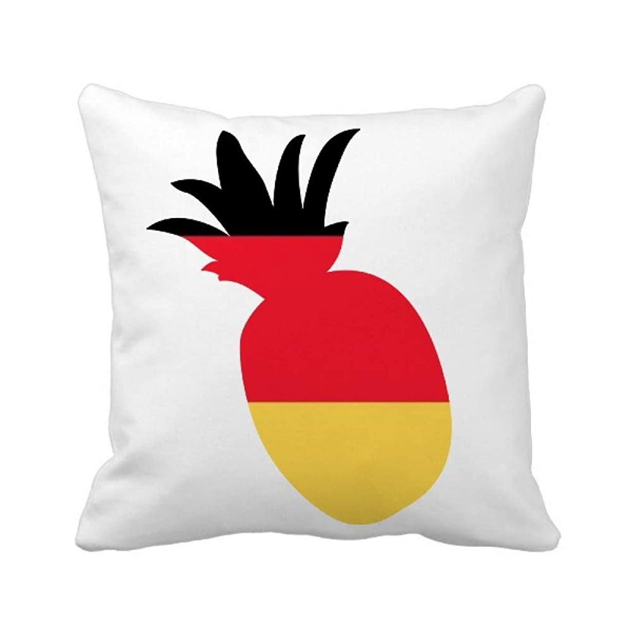 天才クリケットスケッチドイツの国旗は、ヨーロッパの国 パイナップル枕カバー正方形を投げる 50cm x 50cm