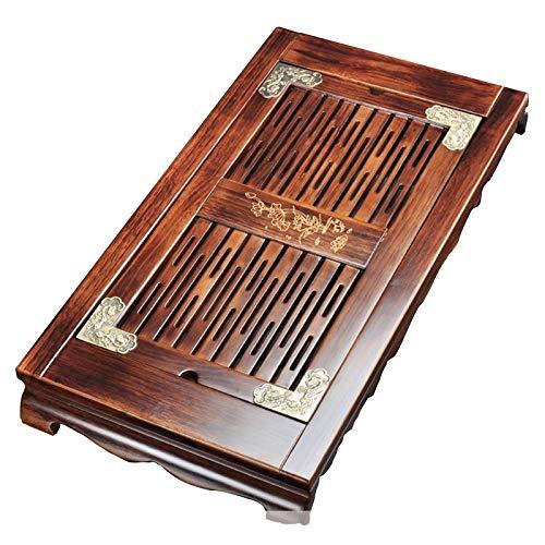 FTTH&YAG Gongfu Tea Set Tea Tray, Japanese Chinese Tea Set, Bamboo Tray Tea Tray Drainage Water Storage, Tea Serving Tray Tea Box, Kung Fu Type Tea Table Tea Trays (Color : B)
