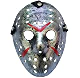 Junyulim Jason Voorhees Mask Cosplay Mask Halloween Mask for Masquerade Party Bar Cosplay Halloween (Jason Mask Silver)