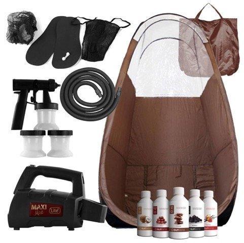 Maximist Lite Plus - Complete Tanning Kit (Inclusief bruine Tent & Suntana Spray Tan Solutions)