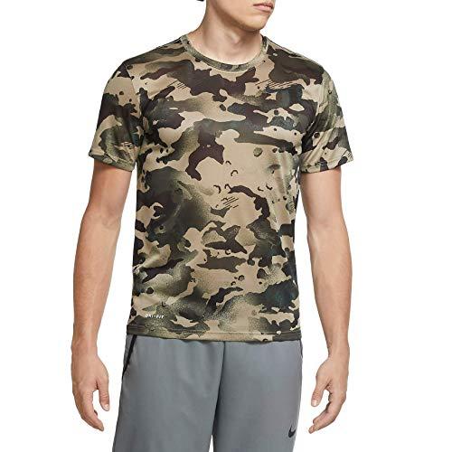NIKE Camiseta para Hombre Dry Leg Camo AOP Mystic Stone/Black, L