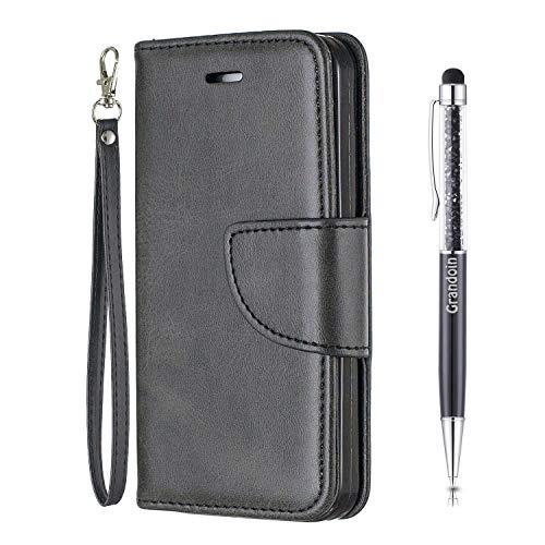 Grandoin Custodia per iPhone 12 PRO Max (6,7 Pollici), Creativo Custodia Retro a Libro Flip Case...