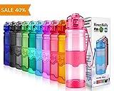 HoneyHolly Botella de Agua Deporte 400ml/500ml/700ml/1l, sin bpa tritan plastico,...