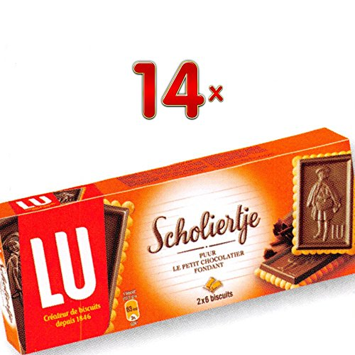 LU Scholiertje Le Petit Chocolatier Fondant 14 x 150g Packung (Keks mit dunkler Schokolade)